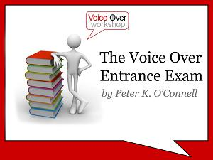 voiceover entrance exam